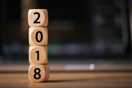 New year 2018 concept of background.