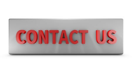 Contact Us 3D text isolated on white background.