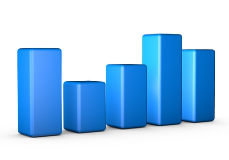 Business finance bar chart graph isolated on white. Stock Photo
