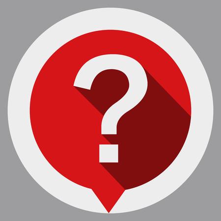 Question mark icon isolated on gray background. Ilustração
