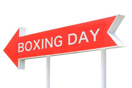 Boxing Day Arrow isolated on white background.