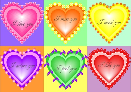 the expression of feelings with hearts