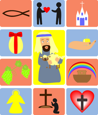 the symbols of Christianity and the Bible