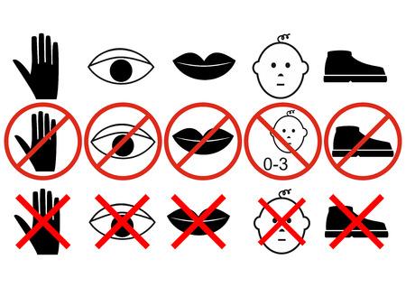 interdiction: panneaux d'interdiction