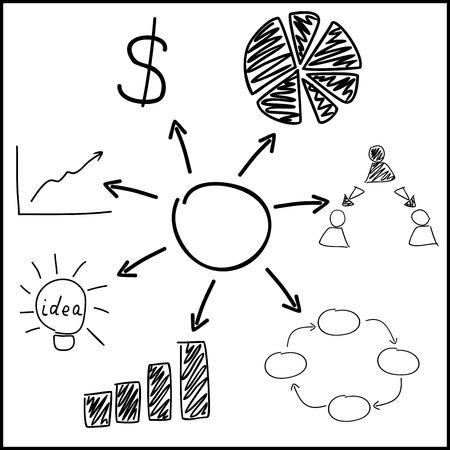 general manager: business figure illustration