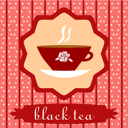 hot cup: background with Cup of black tea