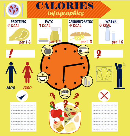 infographics on the topic of counting calories, calorie, diet