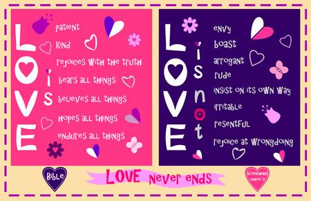 Love in 1 Corinthians the thirteenth Chapter Illustration