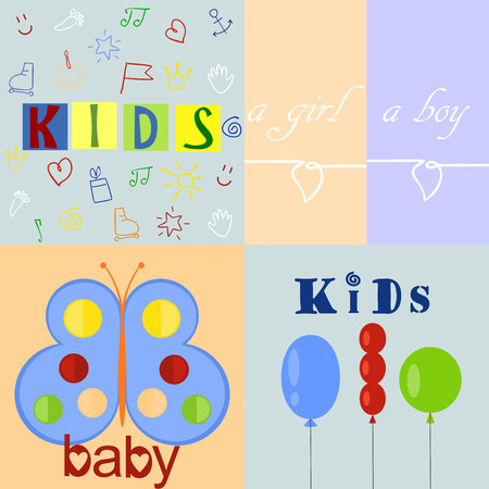 neonatal: five different color baby and backgrounds