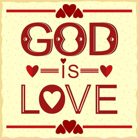 arrepentimiento: verso de la Biblia Dios es amor en rojo con corazones Vectores