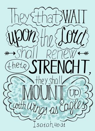 主に信頼をレタリング聖書が彼らの強さを更新します。