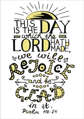 聖書の詩は、これは、主がなされた日です。詩篇  イラスト・ベクター素材