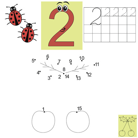 the children s: Children s math homework. Figure two. Connect the dots leaves. Kids job