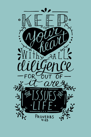biblical: Hand lettering Biblical quote