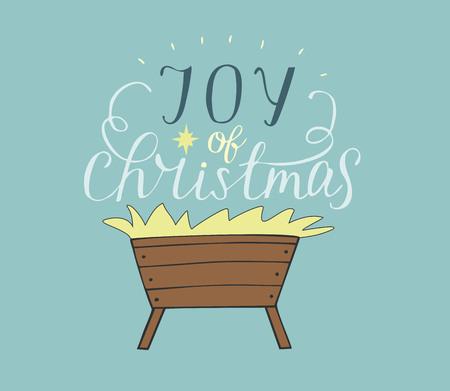 Hand belettering Vreugde van Kerstmis.