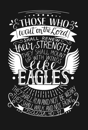 Hand lettering, Biblical quote vector illustration
