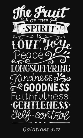 Hand lettering The fruit of the Spirit