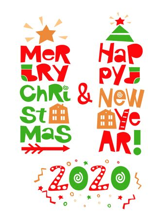 Holiday quotes Happy New Year and Merry Christmas
