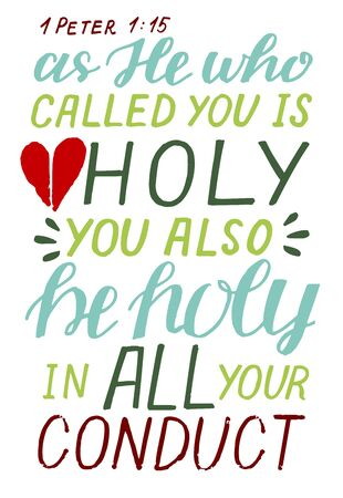 Hand lettering Be holy in all your conduct. Illusztráció