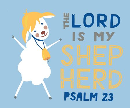 Hand lettering The Lord is my Shepherd