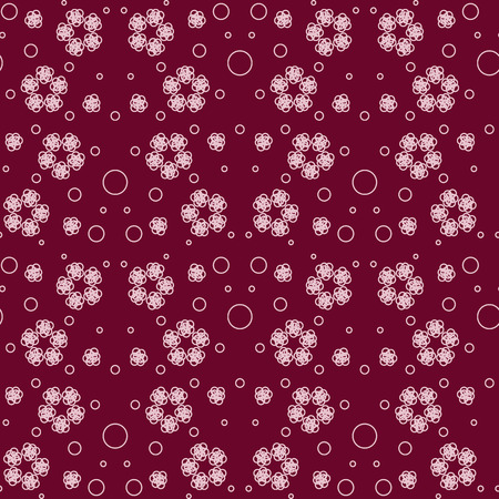 Abstract seamless pattern with red elements. Vector Illustration EPS 10. Illustration