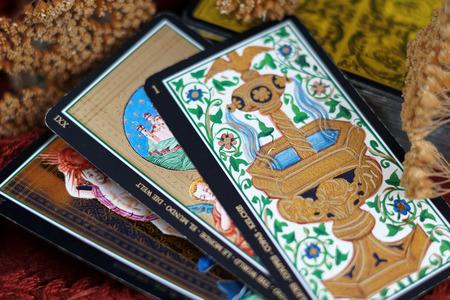 Tarot cards Standard-Bild