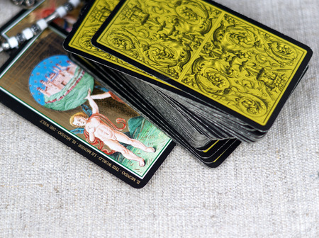 tell fortune: Tarot cards Stock Photo