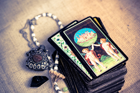 Tarot cards Archivio Fotografico
