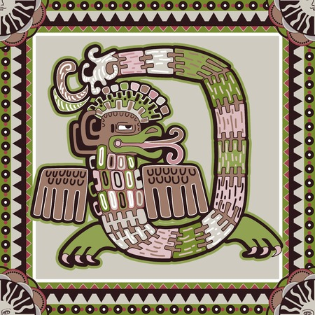 american stories: Seamless aztec pattern. Ethnic colorful ornamental backgroubd