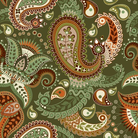 Paisley seamless pattern. Ornamental ethnic decorative background Vector