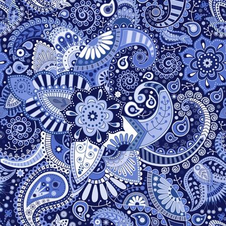 페이즐리 원활한 패턴 일러스트