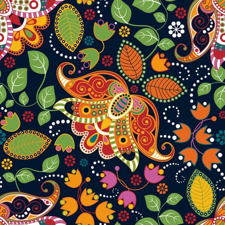 花のシームレスなパターン。夏の花の壁紙、背景