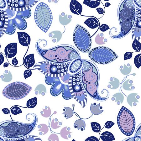 Floral seamless pattern. Summer flowers wallpaper, background
