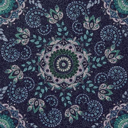 Seamless pattern. Floral ornamental wallpaper