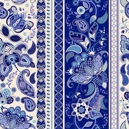 Floral seamless pattern. Stripe ornamental seamless wallpaper