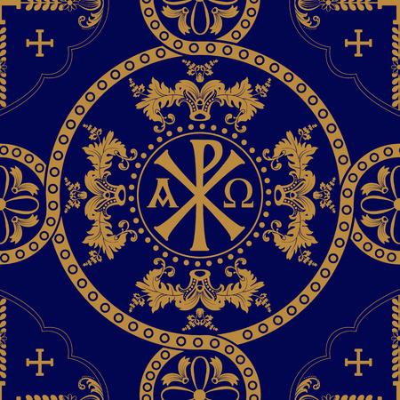 orthodox: Classic orthodox seamless pattern. Classic orthodox background with decorative elements