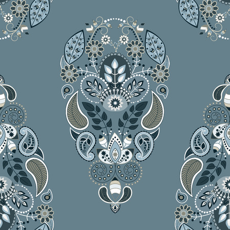 Paisley seamless pattern. Floral ornamental seamless background
