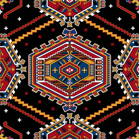indonesian: Geometric seamless pattern. Ornamental background Illustration
