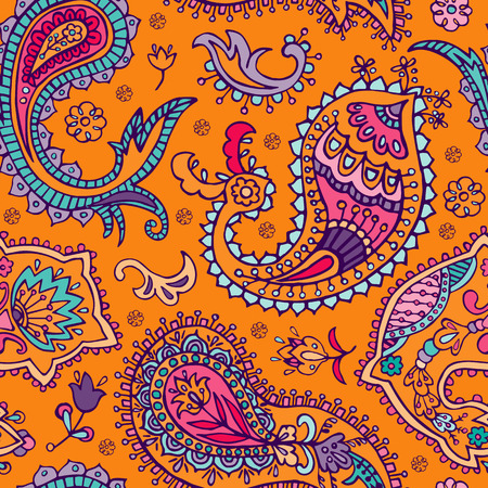 tile able: Paisley seamless pattern. Abstract ethnic background Illustration