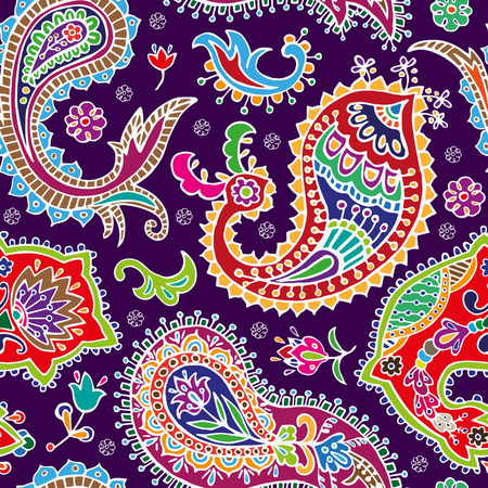 floral paisley: Paisley seamless pattern. Abstract ethnic background Illustration