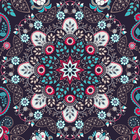 Vector seamless indian floral ornament