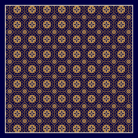 ornamental pattern: For textile, shawl, pillowcase. Square ornamental pattern