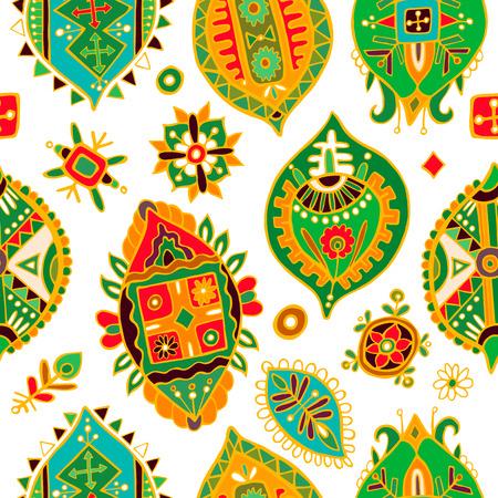 seamless pattern: Abstract seamless pattern. African wallpaper Illustration