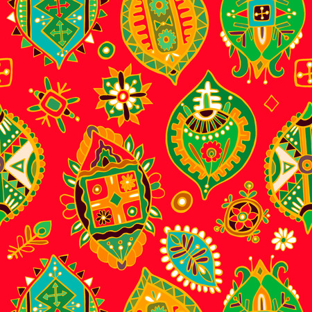 indian teenager: Abstract seamless pattern. African wallpaper Illustration
