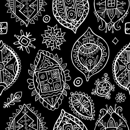 Abstract seamless pattern. African wallpaper 일러스트