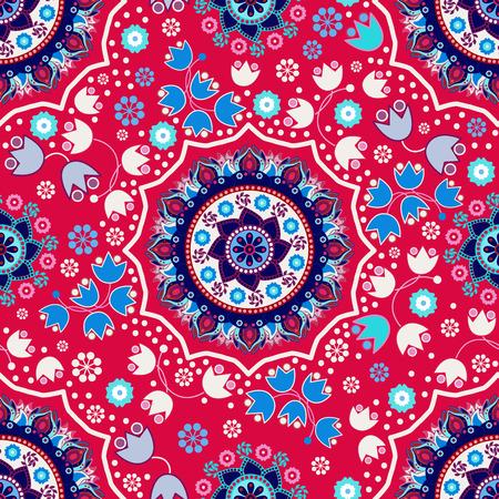 ornamental background: Floral seamless pattern. Ornamental background