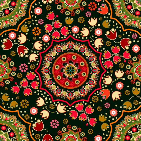 Floral seamless pattern. Ornamental background