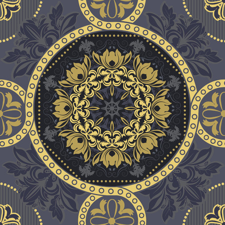 Seamless ornamental pattern. Geometric background
