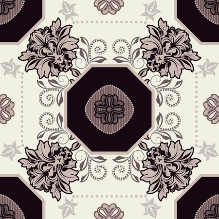 Geometrical tile pattern. Ornamental seamless background