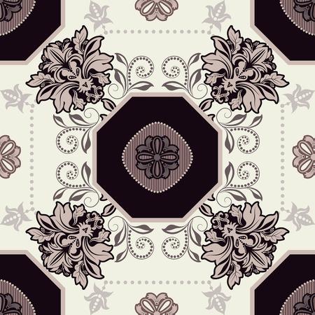 Geometrical tile pattern. Ornamental seamless background